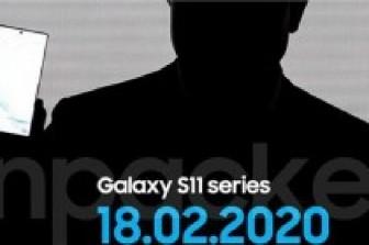 Samsung dự kiến sẽ trình làng Galaxy S11 vào ngày 18-2-2020