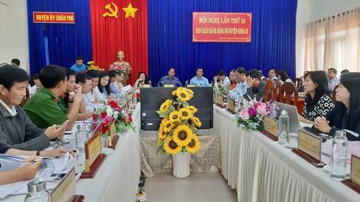 Ban Chấp hành Đảng bộ huyện Châu Phú đánh giá tình hình thực hiện nhiệm vụ trong năm 2019