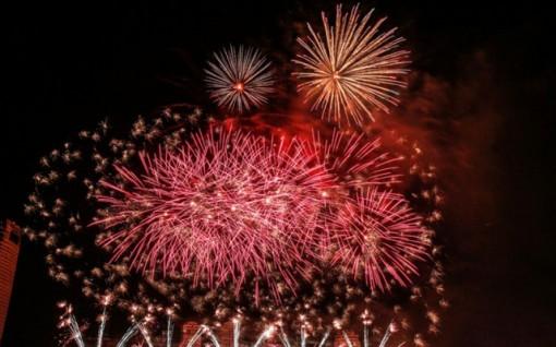 Chợ Mới bắn pháo hoa đêm giao thừa Tết Nguyên đán Canh Tý 2020