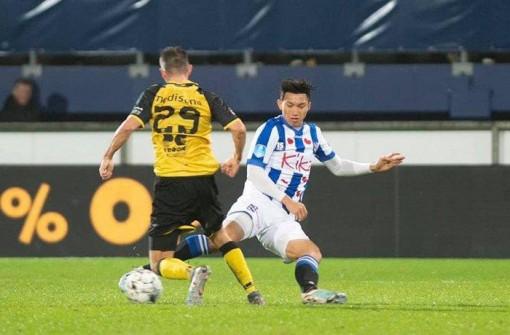Văn Hậu đá trận ra mắt, Heerenveen thắng lớn ở cúp Quốc gia Hà Lan