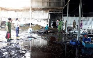 Cháy cơ sở sản xuất trà ở Phú Tân thiệt hại tài sản gần 400 triệu đồng