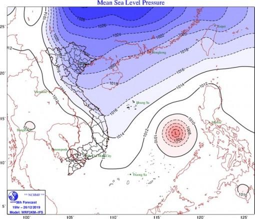 Từ 26-12, không khí lạnh gây mưa ở Bắc Bộ, vùng núi có nơi rét đậm