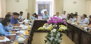 Họp đánh giá tiến độ triển khai thực hiện Ngày hội Mắm An Giang - Nam Bộ