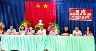 Đại biểu HĐND tỉnh, huyện tiếp xúc cử tri huyện Phú Tân
