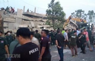 Sập công trình tại Campuchia: Xác định nhiều người tử vong