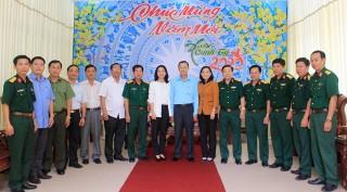 Phó Bí thư Thường trực Tỉnh ủy Võ Anh Kiệt thăm, chúc Tết lực lượng vũ trang, doanh nghiệp