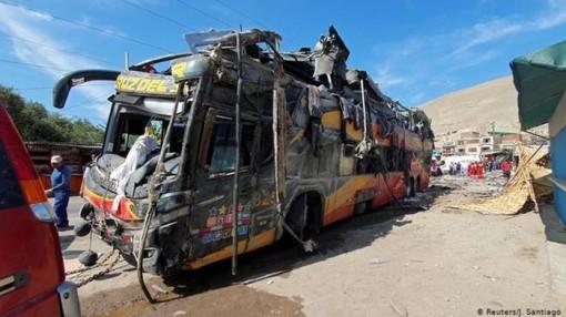 16 người chết, 42 người bị thương trong vụ tai nạn xe buýt ở Peru