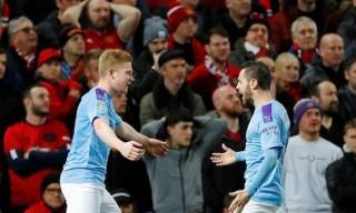Man City thắng thuyết phục MU ở bán kết lượt đi League Cup