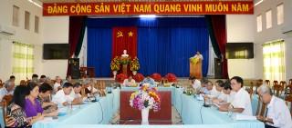 Góp ý dự thảo báo cáo chính trị của Ban Chấp hành Đảng bộ huyện Châu Thành