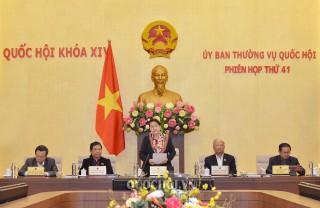 Khai mạc phiên họp thứ 41 của Ủy ban Thường vụ Quốc hội