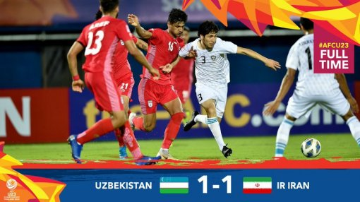 U.23 Châu Á 2020: ĐKVĐ Uzbekistan đánh rơi chiến thắng trước Iran