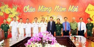 Bộ Tư lệnh Bảo vệ biển, đảo Campuchia chúc Tết Đảng bộ, chính quyền và nhân dân tỉnh An Giang