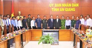 Đoàn đại biểu tỉnh Kandal thăm và chúc Tết tỉnh An Giang