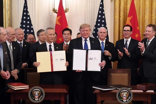 Mỹ và Trung Quốc chính thức ký thỏa thuận thương mại giai đoạn 1