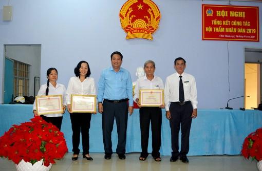 Tỷ lệ giải quyết, xét xử của Tòa án nhân dân huyện Châu Thành đạt gần 78%