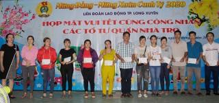 """Liên đoàn Lao động TP. Long Xuyên tổ chức vui Tết cùng công nhân """"Tổ tự quản nhà trọ"""""""