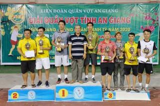 Bế mạc Giải quần vợt tỉnh An Giang mừng Đảng, mừng Xuân Canh Tý 2020
