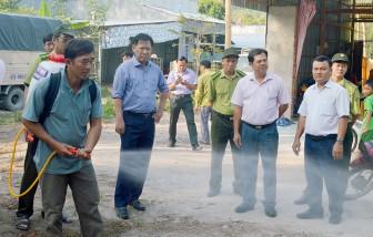 Phó Chủ tịch UBND tỉnh An Giang Trần Anh Thư kiểm tra tình hình sản xuất nông nghiệp và phòng, chống cháy rừng