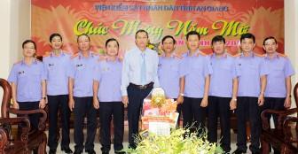 Phó Chủ tịch UBND tỉnh An Giang Lê Văn Nưng chúc Tết đơn vị, doanh nghiệp