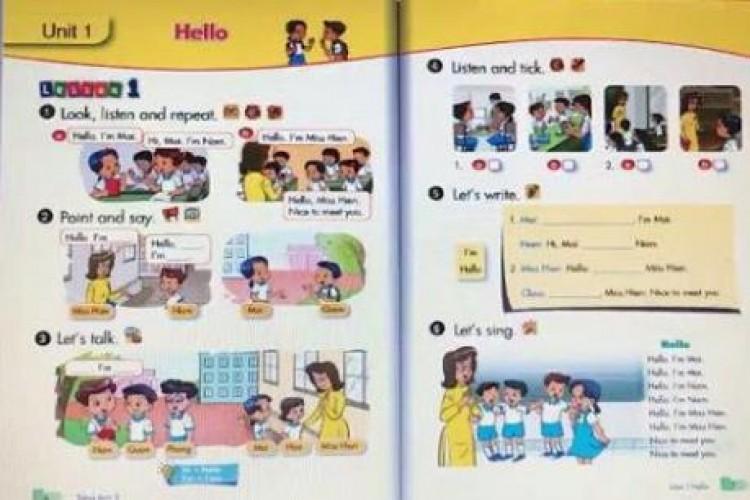 Danh mục sách giáo khoa tiếng Anh lớp 1 sử dụng theo chương trình giáo dục phổ thông mới
