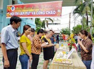 Bệnh viện Sản - Nhi An Giang tổ chức Hội thi trang trí cổng và làm mứt đón Tết