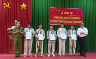 Trại giam Định Thành tổ chức lễ công bố quyết định tha tù trước thời hạn