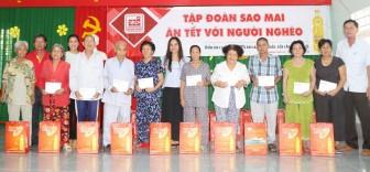 Tập đoàn Sao Mai chi hơn 10 tỉ đồng mang sắc xuân đến người nghèo