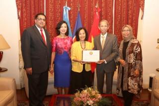Việt Nam đảm nhận chức Chủ tịch luân phiên Ủy ban ASEAN tại Argentina