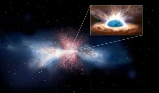 Các nhà khoa học bối rối với phân tử lạ từ gió lỗ đen