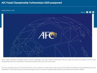 AFC hoãn tổ chức VCK Futsal châu Á 2020 vì virus Corona