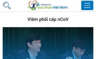 Sức khỏe Việt Nam - Ứng dụng thông tin chính thức của Bộ Y tế về dịch do virus Corona