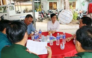 Bí thư Huyện ủy Châu Thành Đinh Thị Việt Huỳnh: Kiểm tra công tác tuyển chọn và gọi công dân nhập ngũ năm 2020