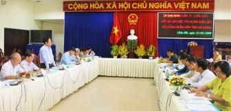 HĐND tỉnh khảo sát công tác phòng, chống dịch bệnh CoVid-19 ở TP. Châu Đốc