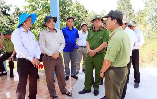 Kiểm tra tình hình hạn hán, xâm nhập mặn và công tác bảo vệ rừng  ở An Giang