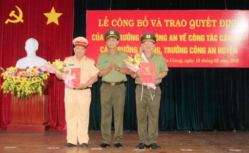 Công an An Giang trao quyết định điều động, bổ nhiệm và nghỉ công tác 14  lãnh đạo, chỉ huy