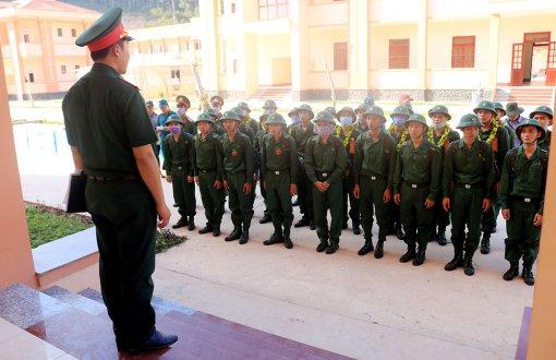Hoàn thành công tác giao nhận quân tại Lữ đoàn 950