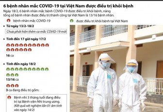 6 bệnh nhân mắc COVID-19 ở Việt Nam được điều trị khỏi
