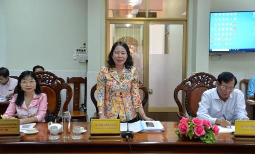Bí thư Tỉnh ủy An Giang làm việc với Huyện ủy Châu Thành về công tác chuẩn bị Đại hội Đảng