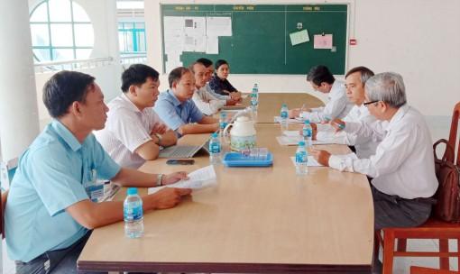 Sở Giáo dục và Đào tạo An Giang kiểm tra công tác phòng, chống dịch bệnh Covid-19 tại các trường học ở Châu Phú
