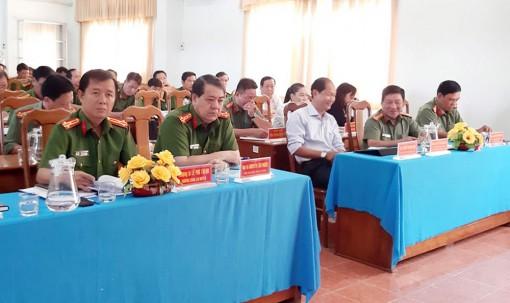 Công an huyện Châu Phú tăng cường bảo đảm an ninh trật tự
