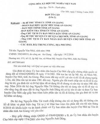 Đang tiếp tục giải quyết vụ án của ông Nguyễn Văn Nhái