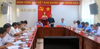 Phó Bí thư Thường trực Tỉnh ủy An Giang Võ Anh Kiệt làm việc với TP. Châu Đốc về công tác chuẩn bị Đại hội Đảng các cấp