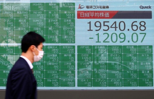 Giá dầu, chứng khoán lao dốc