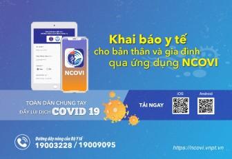 Ứng dụng NCOVI giúp người dùng có thể chủ động theo dõi tình trạng sức khỏe