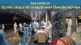 Cách ly tất cả người nhập cảnh vào Việt Nam từ 21-3