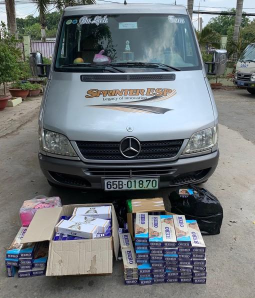 Bắt giữ 3 phương tiện vận chuyển thuốc lá ngoại nhập lậu