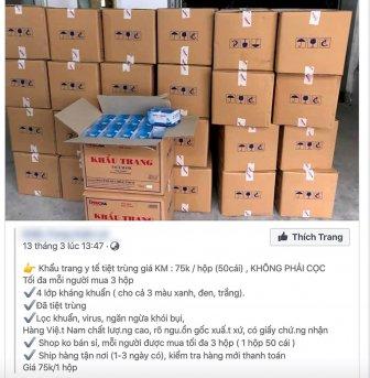 Cần thận trọng khi mua khẩu trang y tế qua mạng