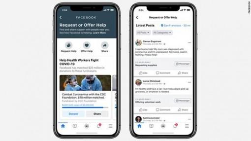 Facebook phát hành tính năng 'trợ giúp cộng đồng' phòng chống COVID-19