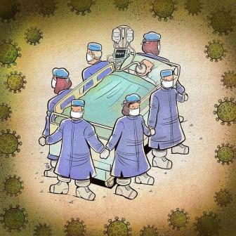 Bộ tranh cảm động về những bác sĩ tuyến đầu chống dịch Covid-19