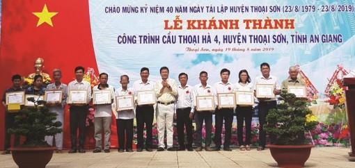 Xã hội hóa cầu nông thôn ở Thoại Sơn